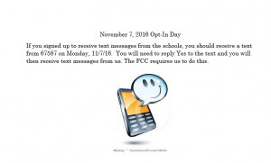 Opt-In Day Nov. 7, 2016