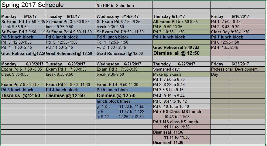 2017 HMHS Final Schedule